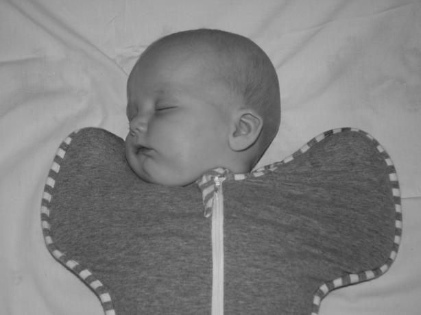 A sleeping swaddle...
